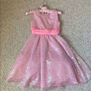Never worn!  girls pink sequined holiday dress